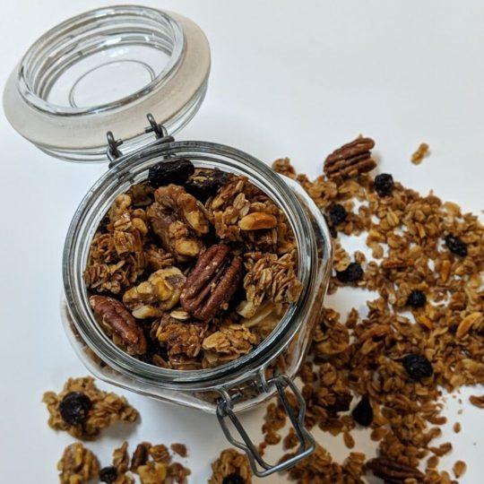 Granola in Glass Jar