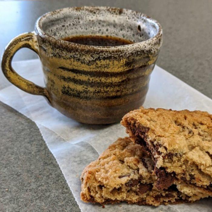 Chocolate Chunk Cookie and Coffee