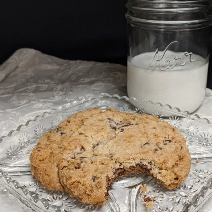 Chocolate Chunk Cookie with Milk
