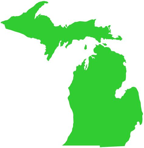 Green Michigan Outline