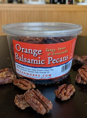 Orange Balsamic Pecans