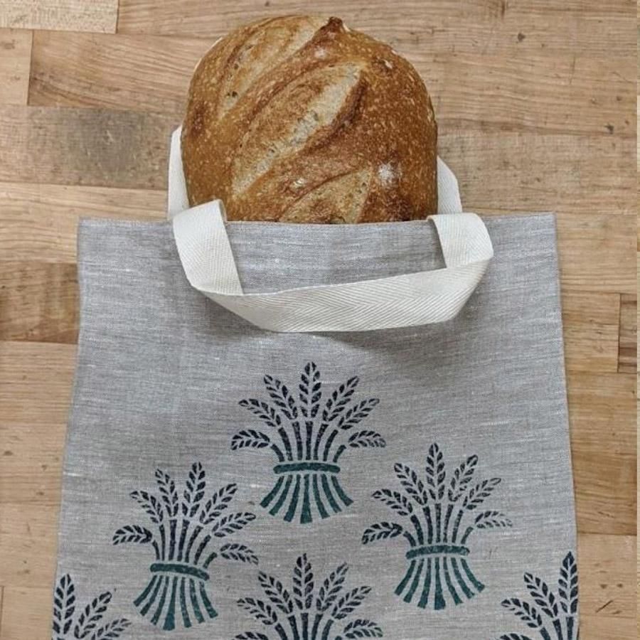 Blue Wheat Linen Bag