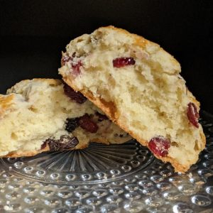 Mixed Berry Scone broken