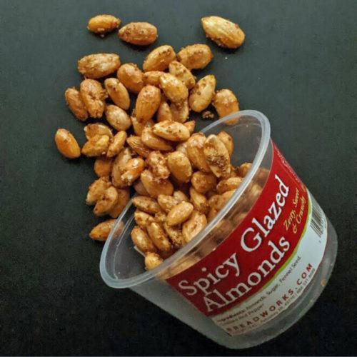 Spicy Glazed Almonds