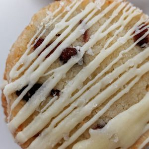 Cranberry Coconut Lime Shortbread